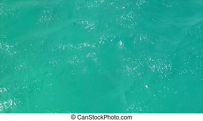 Cyan windy water background