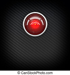 red eye hal - classic artificial intelligence concept 3d...