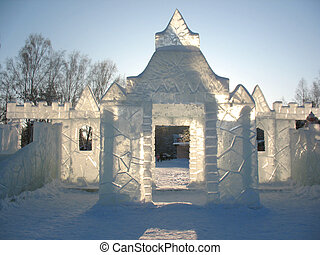 ice house - This is ice house on winter city square