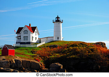 Nubble Lighthouse - A sunrise at the Nubble Lighthouse
