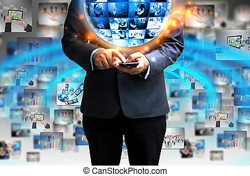 ビジネスマン, 保有物, ビジネス, 世界