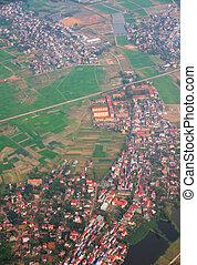 Hanoi city Vietnam,Bird eye view