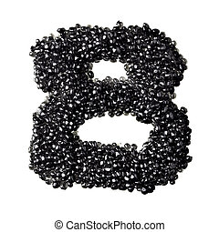 Black caviar numbers - Eight - Numbers made from black...