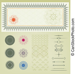 vector set of certificate decorati - vintage set of element...