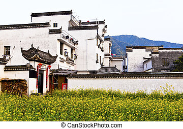 Rural houses in Wuyuan, Jiangxi Province, China.