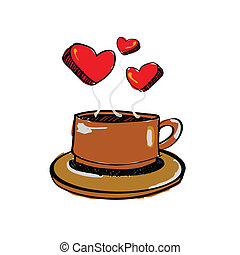 Love coffee Clipart Vector and Illustration. 5,176 Love ...