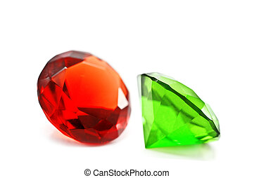 brilliant - red and green brilliant isolated