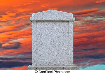 Blank gravestone ready for an inscription