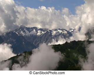 TL clouds super highspeed - time lapse clouds in the Alps...