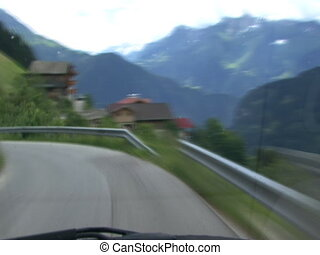 TL highspeed downhill drive alps