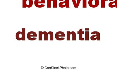 Dementia medical words symbol concept. Mental health symbol...