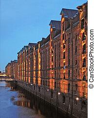 Hamburg City, Speicherstadt - Hamburg city, Speicherstadt at...