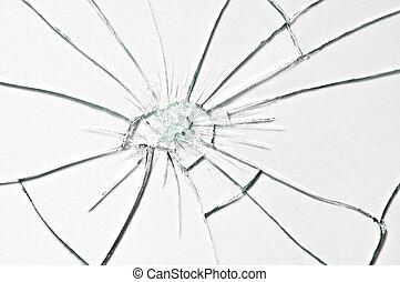 glass - broken glass texture close up
