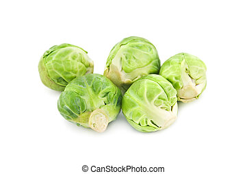 brussel cabbage isolated on white