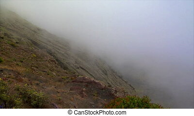 timelapse cloud from high mountain on Lanzarote 10462