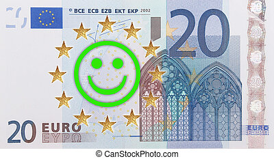 European flag  - A European flag with a laughing face