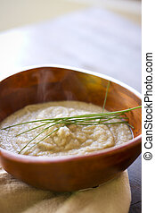 Cumin Scented Cauliflower Puree - A cumin infused vegetarian...