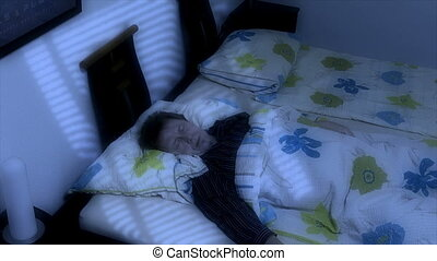 sleep bad dream get frightened - 10660 A man frightened in...