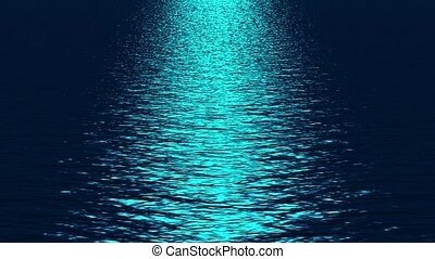 blue light reflecting on ocean