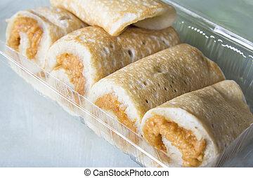 Ban Chien Kueh Peanut Pancakes Closeup - Nyonya Ban Chien...
