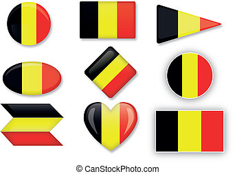 Belgian flag set