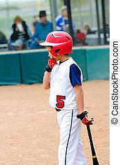 Little league baseball batter