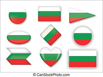 Bulgaria flag set