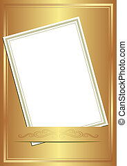 invitation card on gold background