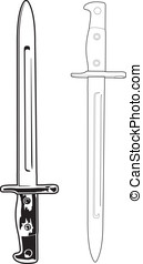 Antique Bayonet - These are vector graphics of antique...