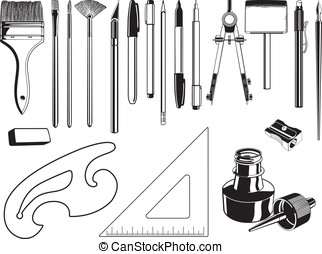 Art Supplies Graphic Elements - Here are a few vector...