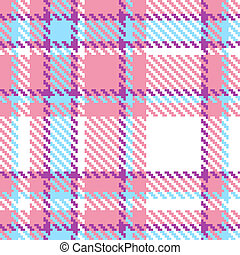 Seamless plaid fabric pattern background. Vector illustration