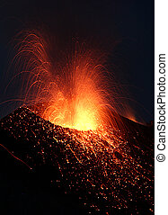 volcan, exploser