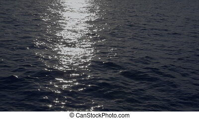 moonlight reflection over wide ocea