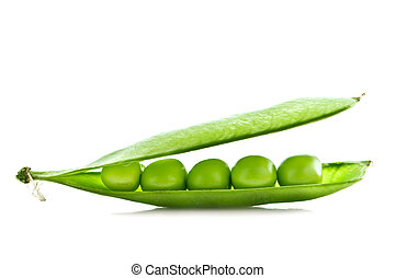 pea - green pea isolated on white