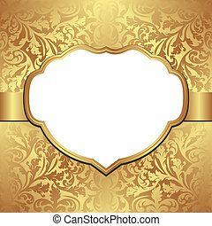 golden background with decorative frame and transparent...