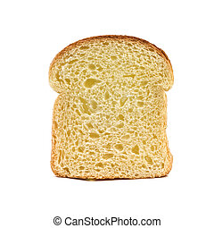 bread - piece of bread isolated on white