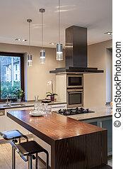 Travertine house - kitchen - Travertine house - close up of...