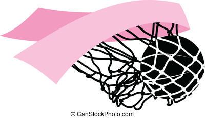 Pink Ribbon Swish - vector illustration of a breast cancer...