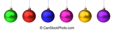 Christmas baubles - Christmas decoration - different colored...