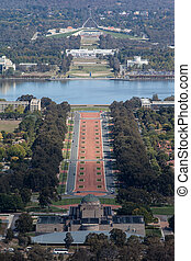Parliament House in Canberra - A view toward Parliament...