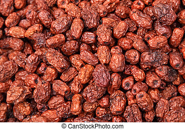 jujube - closeup of pictures, piles of red jujube