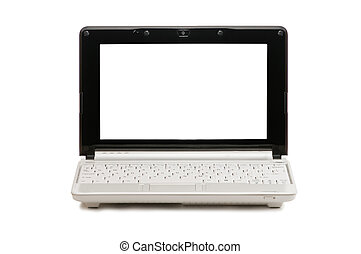 netbook - white netbook isolated on white