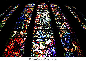 photo of stained glass in church
