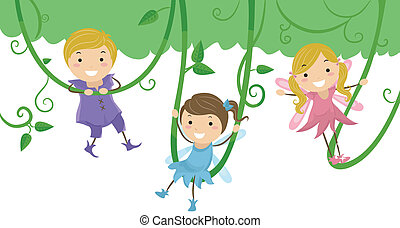 Kids as Fairies for Stage Play