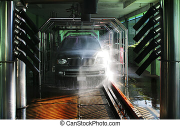 Photo of carwash and SUV - Photo of an SUV or Jeep in a...