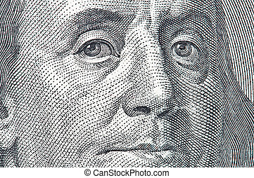 franklin - benjamin franklin portrait close up