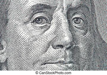 franklin - benjamin franklin portrait close up