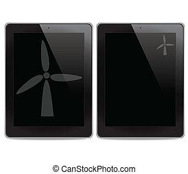 Turbine on tablet computer