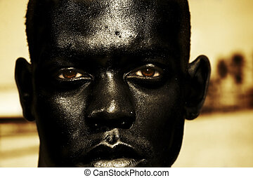 close up of African man