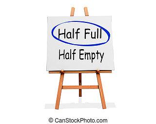 Art Easel Half Full not Half Empty - Art Easel on a white...